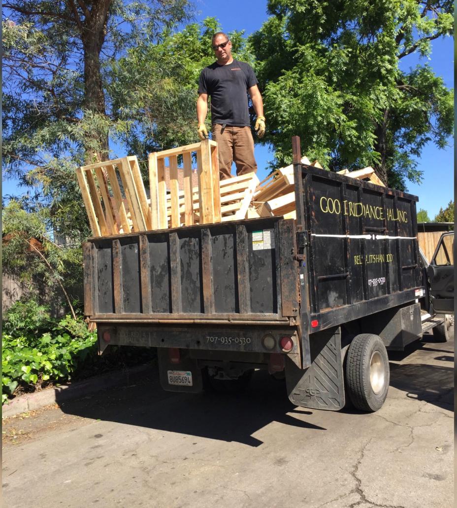 hauling pallets in truck