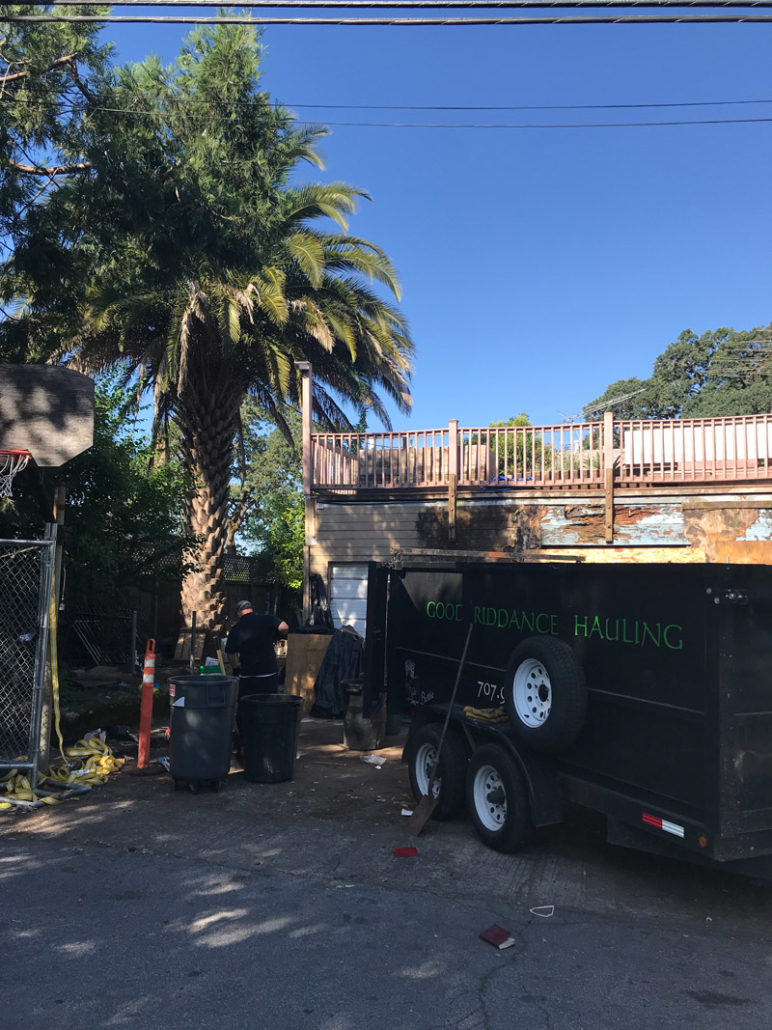 hauling outside junk
