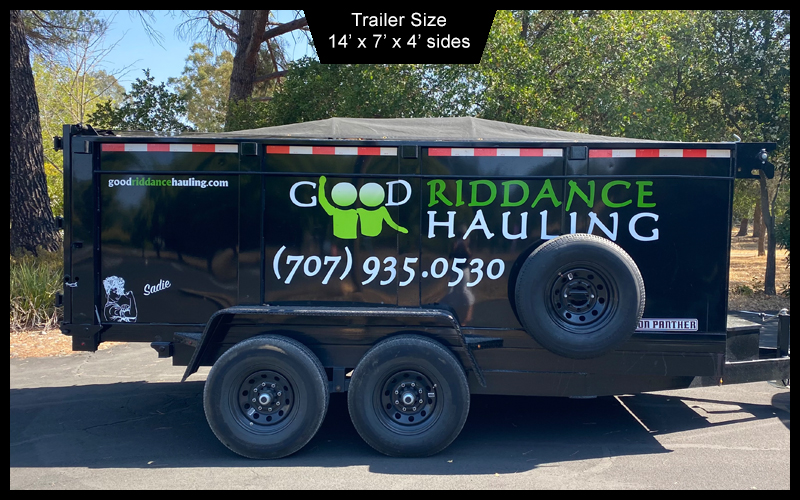 junk hauling trailer with dimensions